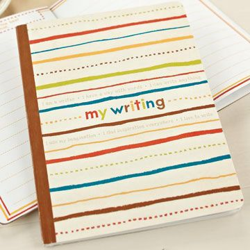 'My Writing' interactive journal for kids $10  @ www.graceandlace.com.au