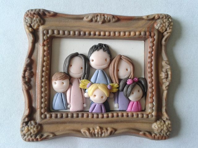 Fun family portrait in polymer clay! by Dark baker Elena Garcia Rizo on Flickr