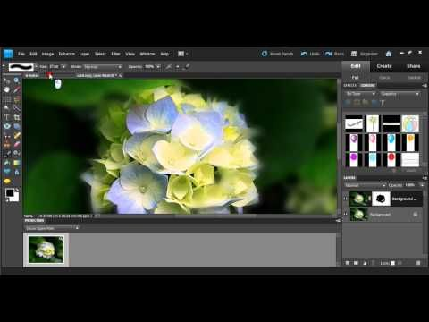 Tutorial on how to create a Gaussian blur using Photoshop elements 9 - YouTube