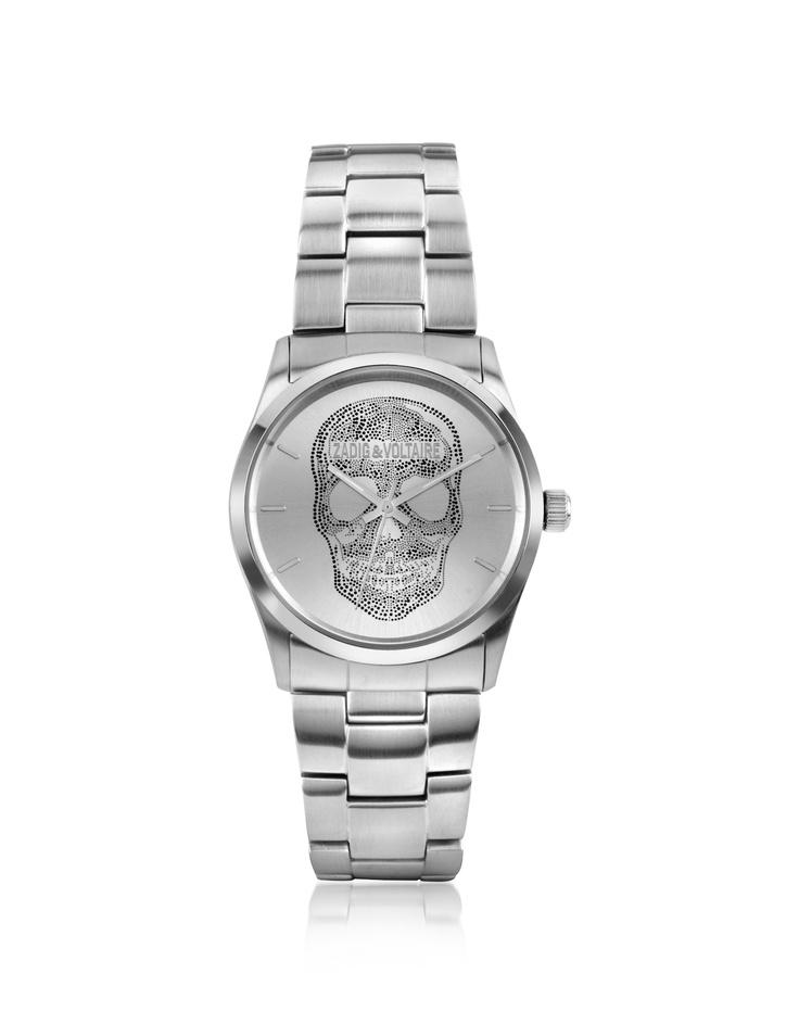 Zadig & Voltaire TDM 36 - Stainless Steel Skull Watch   FORZIERI