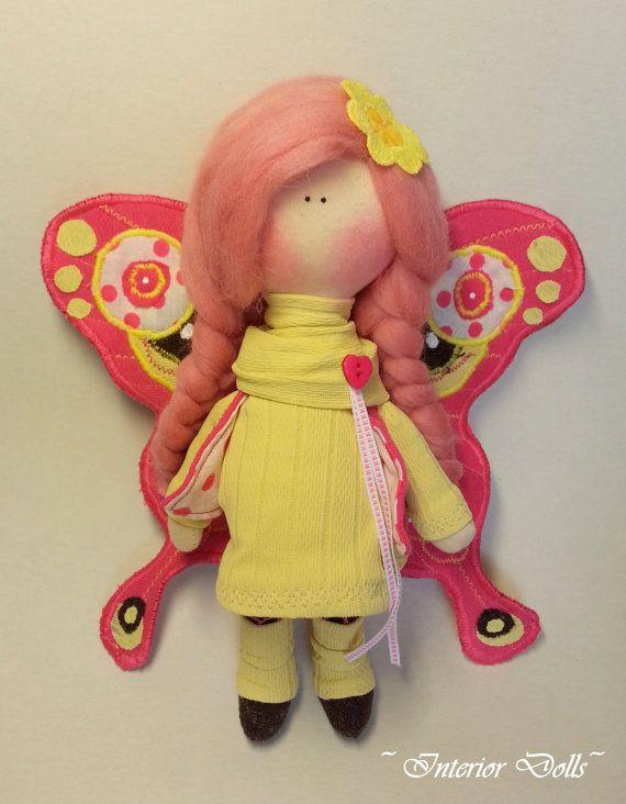 Handmade Doll-Textile Doll-Fabric Doll-Rag Doll-Soft by IntDolls