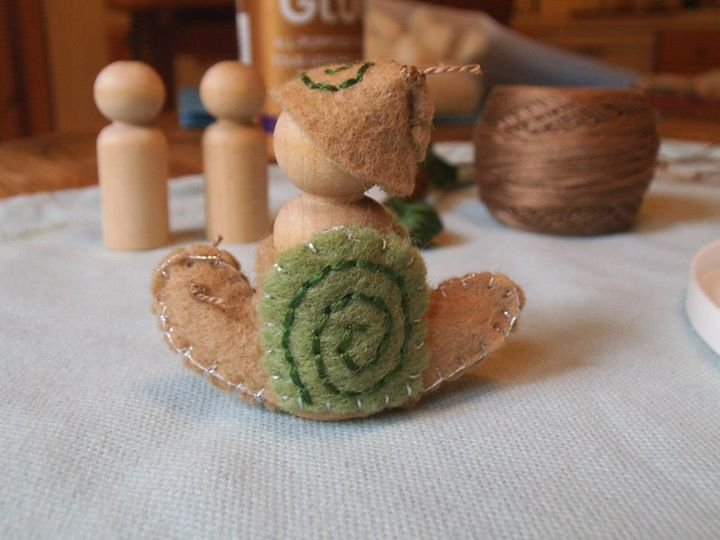 Snail Rider - step by step pictures