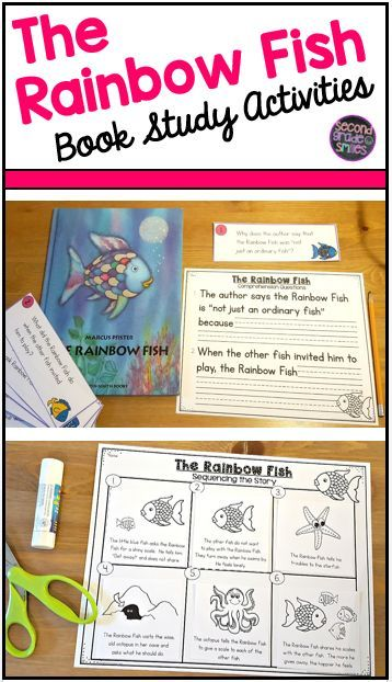 The Rainbow Fish by Marcus Pfister is a sweet story with an important lesson. It is a perfect choice for the start of the school year or any time your students could use a reminder about the importance of sharing and treating others with kindness.  This book study is full of activities, writing prompts, and lesson ideas to use after reading.