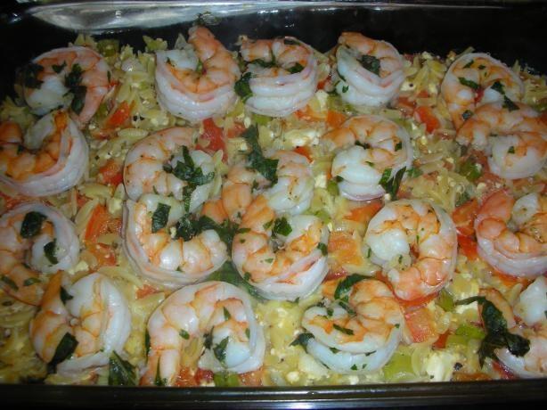 Basil Shrimp with Feta and Orzo | Recipe | Orzo, Feta and Basil