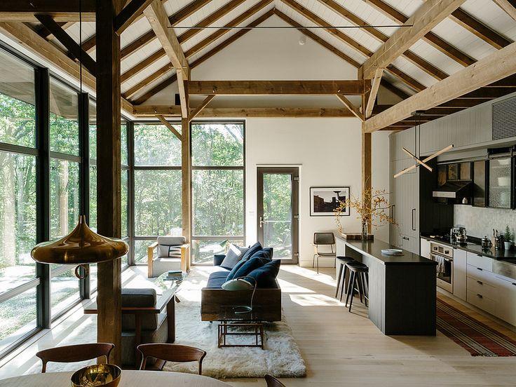 """Voici une maison que je ne pourrais jamais m'offrir, je n'en trouve pas moins l'aménagement intérieur accessible. J'adore ce parti pris """"Néo Shaker"""".   im3"""