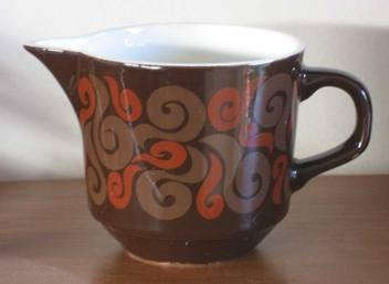 milk jug in the Time Out pattern by designer Peter Gibbs.