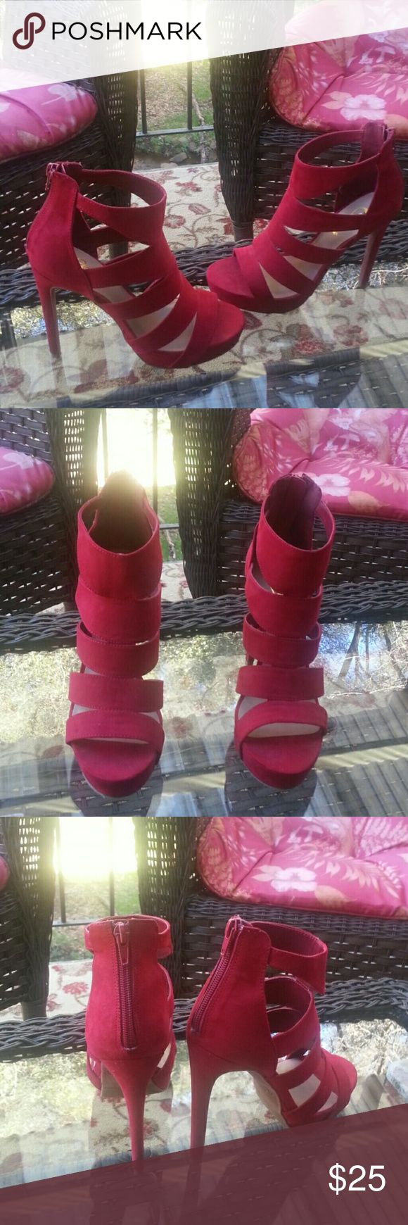 Candies High hill shoes.. heels 4 1/2 inches .. Like new worn once. . Candie's Shoes Heels