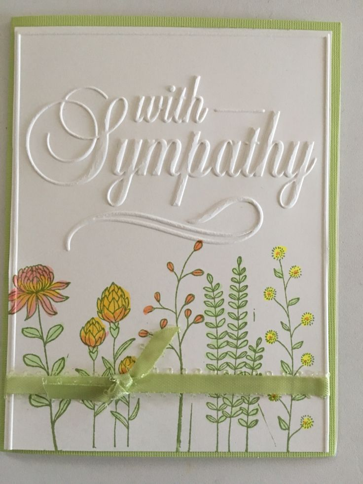 SU Flowering Fields with Darice embossing folder