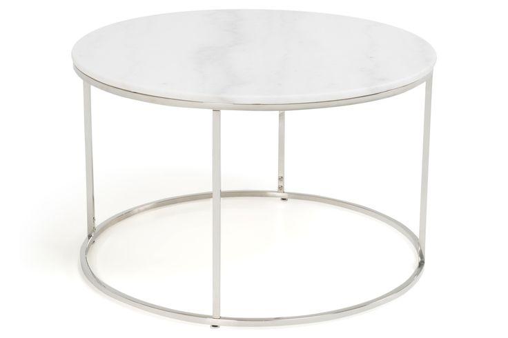 Köp Soffbord Titania Vit Marmor/Stål Runt 80x50 cm hos Chilli. Hos oss får du hög kvalitet till bra pris. Handla fraktfritt med snabb leverans direkt till dörren - Välkommen!