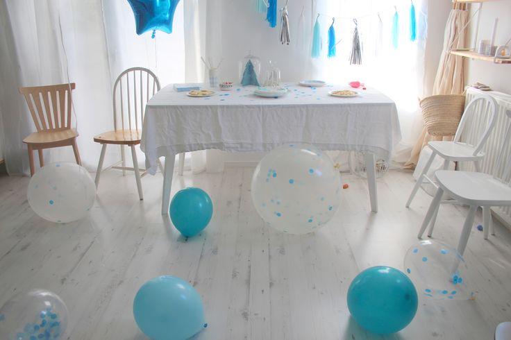 Une fête d'anniversaire ! Thème : la reine des neiges !  http://www.m-habitat.fr/tendances-et-couleurs/deco-de-fete/decorer-sa-maison-pour-une-fete-d-anniversaire-3245_A #anniversaire #enfant #reine #neige