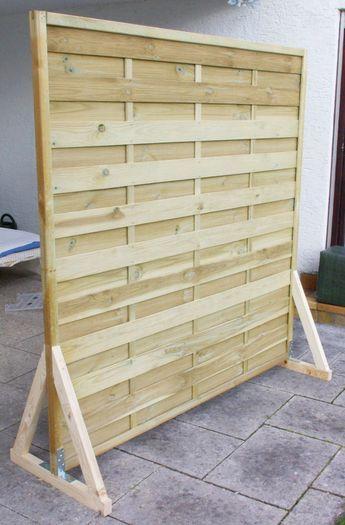 Fresh Sichtschutz Paravent Garten Balkon selber bauen Anleitung DIY fertig ohne Farbe