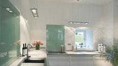 Keuken zonder bovenkastjes verlichting