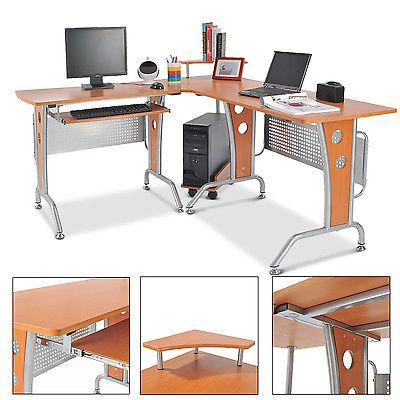 Homcom Eck-Computertisch Eckschreibtisch Bürotisch PC Tisch Schreibtisch Holzsparen25.com , sparen25.de , sparen25.info