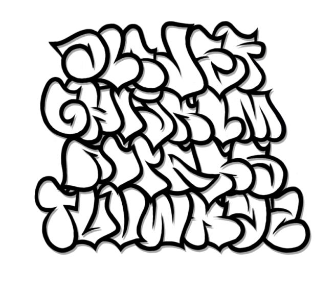 Bubble Letter Graffiti Fonts Design Oct 2013 Fat Letters Graffiti