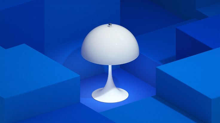 Here it's the White version of Panthella MINI from our latest campaign video. Panthella MINI is a smaller version of Verner Panton's classic Panthella lamp from 1971.