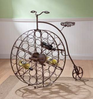 Victorian Bicycle wine rack