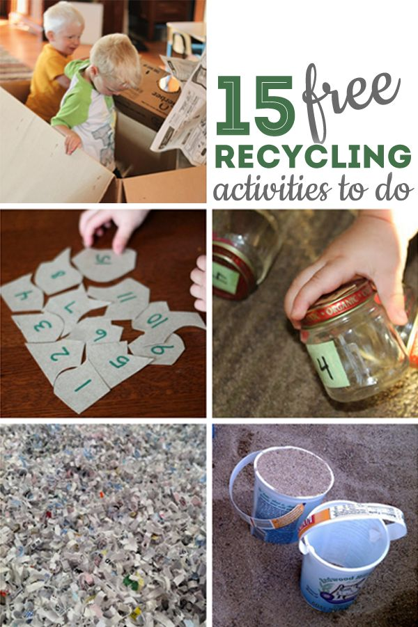 15 recycling activities for kids that are completely free for Recycling ideas for kids