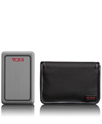 Mobile Power Pack - Tumi-The Tumi Mobile Power Pack is engineered to be compact, efficient and powerful—a reliable tool for hassle-free charging of cell phones and other USB devices. With ample power (5,000 mAh) and two power ports, the Tumi Mobile Power Pack can charge two devices at the same time and is designed to work anywhere in the world. This kit includes the power pack, USB/USB micro power cable and protective ballistic carrying case.