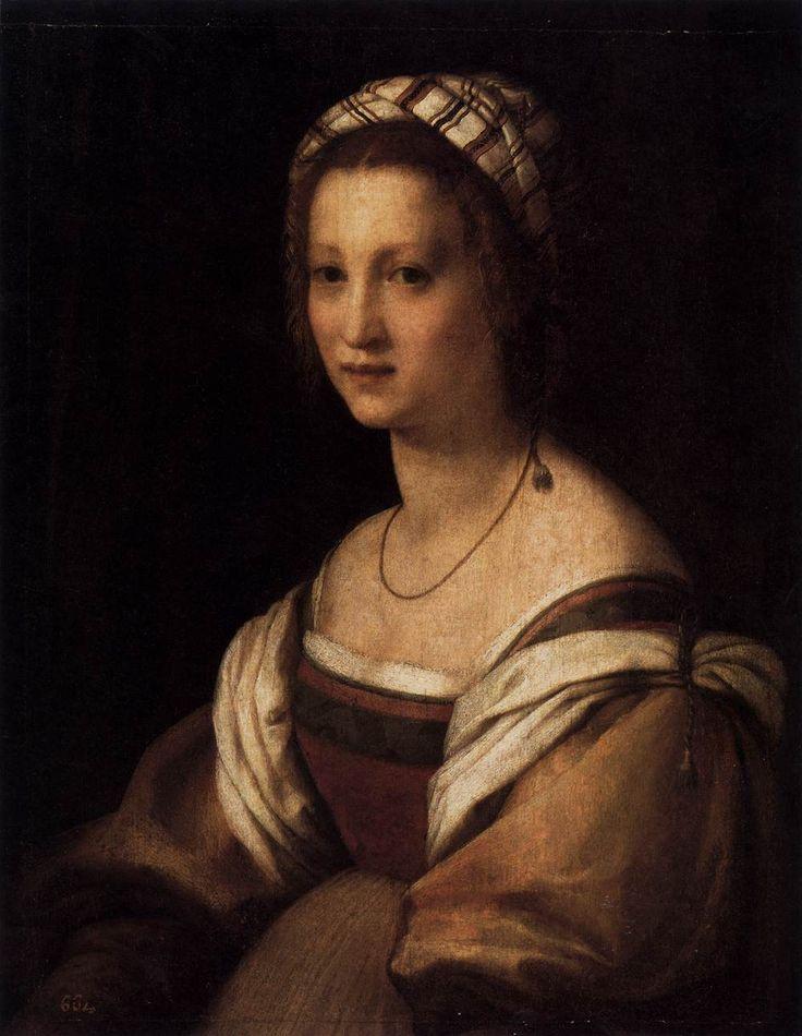 ANDREA DEL SARTO Portrait of the Artist's Wife 1513-14 Oil on panel, 73 x 56 cm Museo del Prado, Madrid