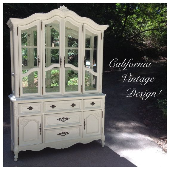 Lexington Mirrored Back China Cabinet By CalVintageDesigns On Etsy, $1500.00