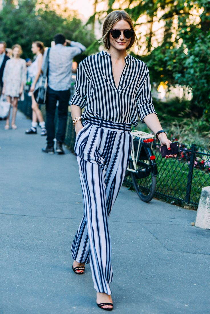 Olivia Palermo in Stripes on Stripes | Tommy Ton Shoots the Best Street Style at Couture - Gallery - Style.com