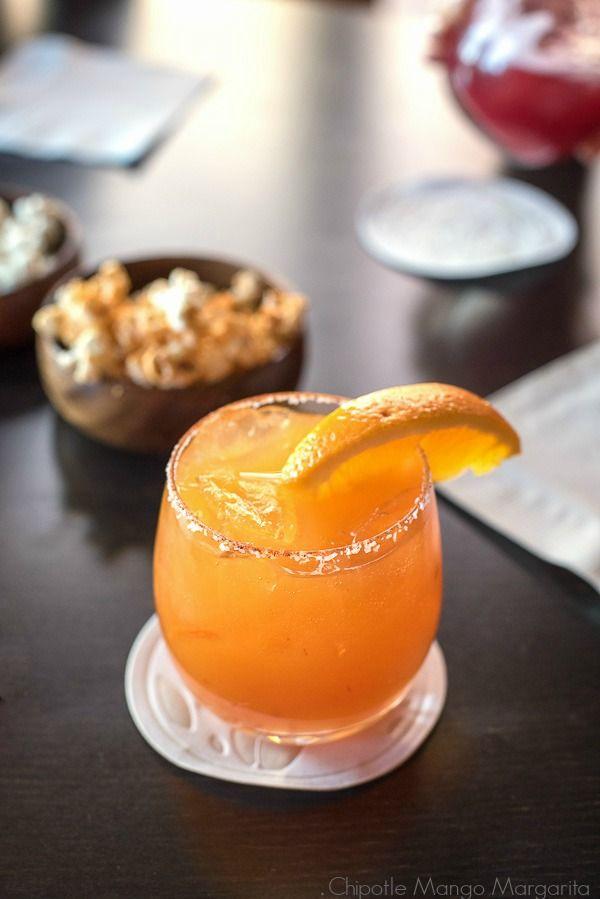Chipotle Mango Margarita recipe. Smoky, spicy and sweet!