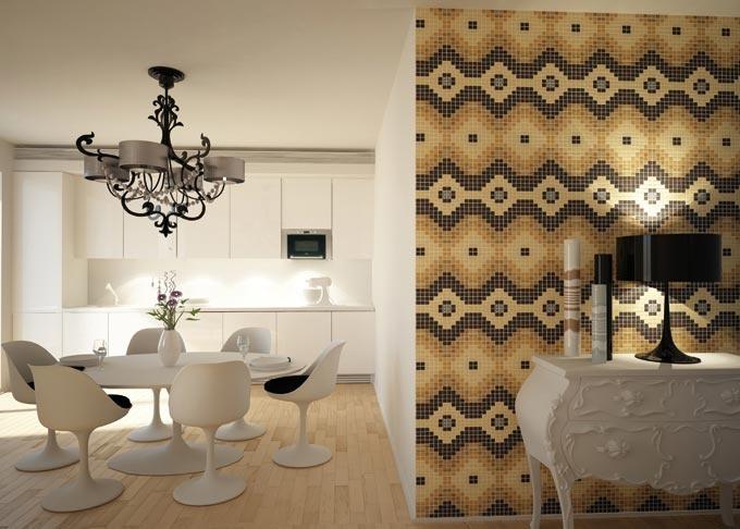 Pavimenti mosaico in legno - wengè, acero, rovere, noce, faggio.