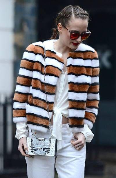 Стритстайл Недели моды в Лондоне: Роузи Фортескью