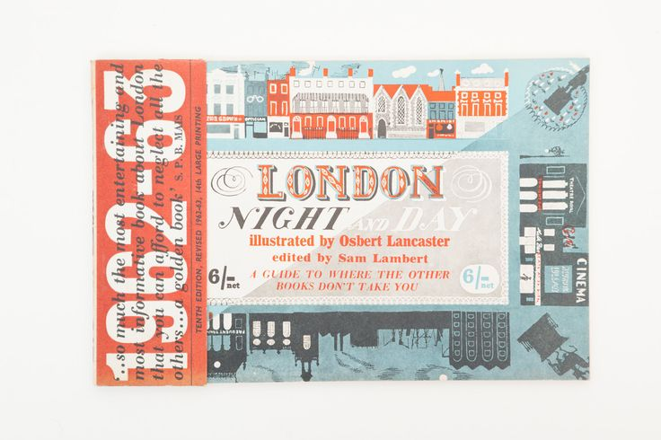 London Night and Day, Illustrated by Osbert Lancaster - Vintage London Guide Book, Published 1962 by PenelopeCatVintage on Etsy