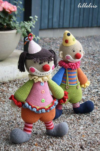 The clown can be a girl too! Ook gratis patronen oa kikker en hond