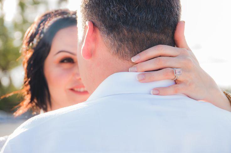 Morganite wedding ring . 5 carat