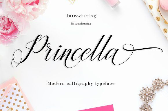 Princella Script | 6 Font | 30% OFF by Amarlettering on @creativemarket