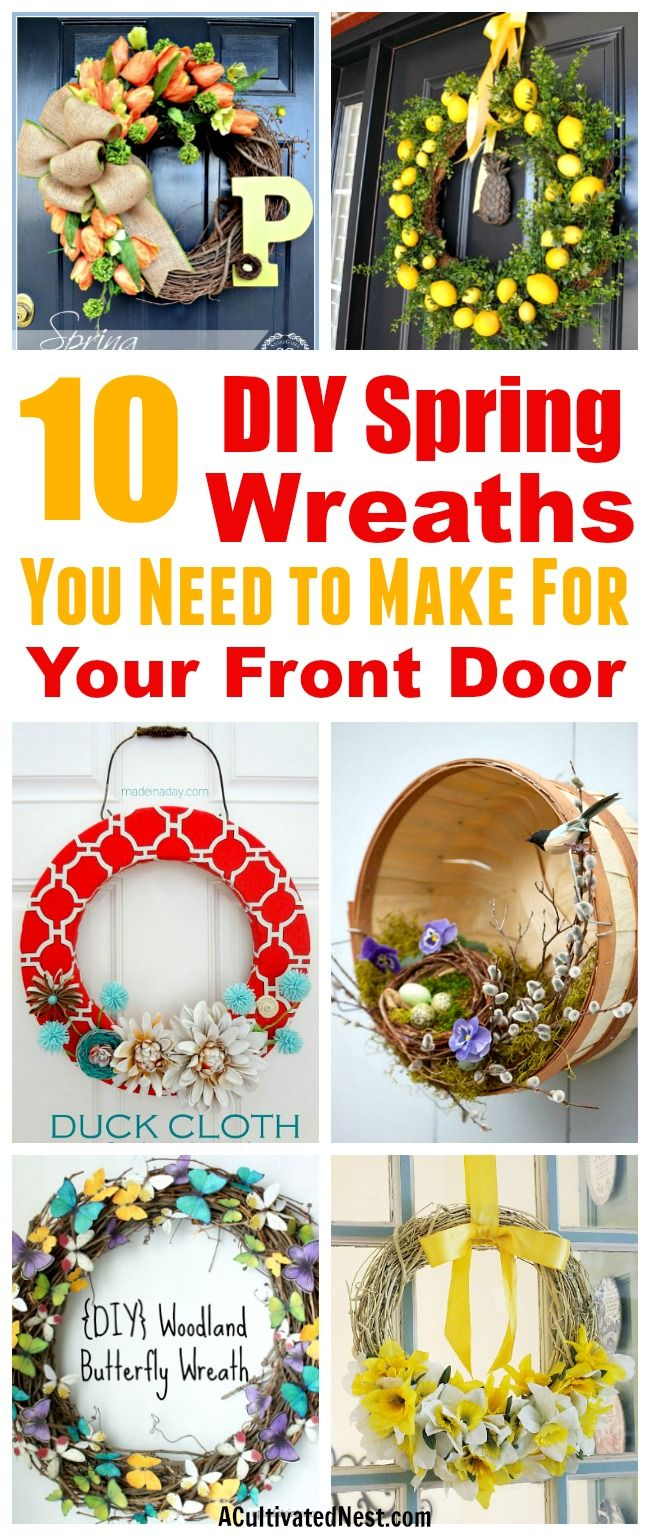10 Cute DIY Spring Wreaths