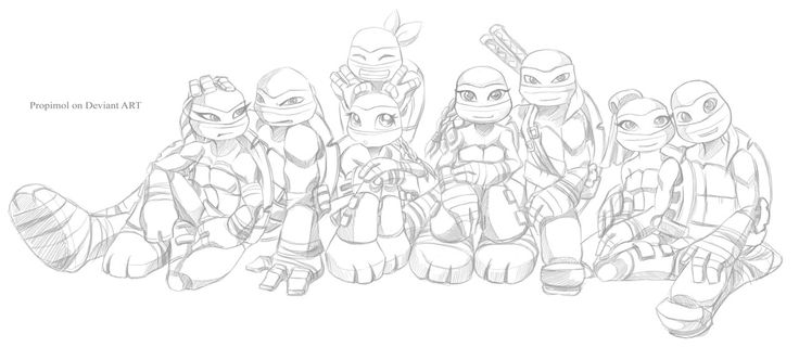 girl ninja turtles coloring pages - photo#2