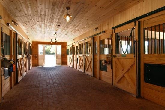 Barrington Hills Barn inspiration for future barn interior brick