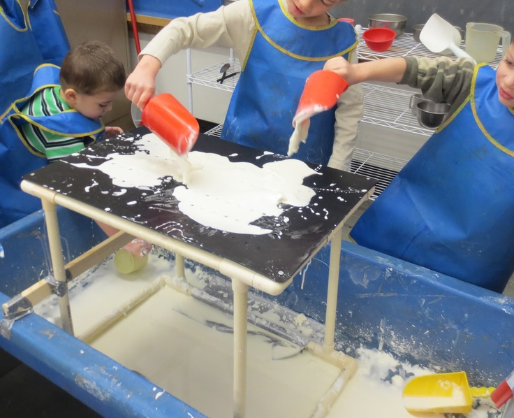 sand and water tables oobleck platform