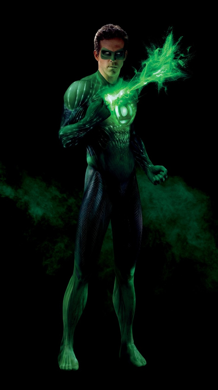 Ryan Reynolds as Green Lantern.  Bad Movie, super hot Ryan.  sexy. funny. sigh.