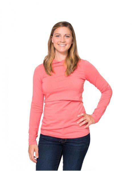 Momzelle Nursing Top Hoodie a perfect top for cool weather! Amazing price!