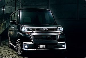 Daihatsu Tanto Custom- This is the one that Hubbs likes--just wait until you see it from the side, because it is really cool for travel and stuff