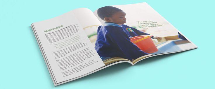 Primary school prospectus design and copywriting based in Manchester, graphic design