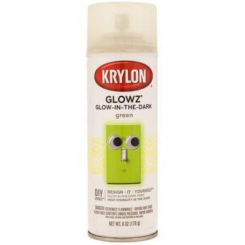 glow spray kid stuff forward krylon glowz glow in the dark spray paint. Black Bedroom Furniture Sets. Home Design Ideas