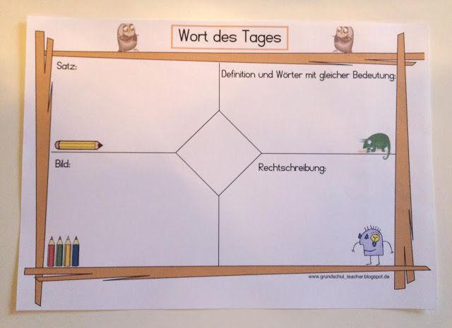grundschul_teacher : Das Wort des Tages - Grammatik für die Kleinen
