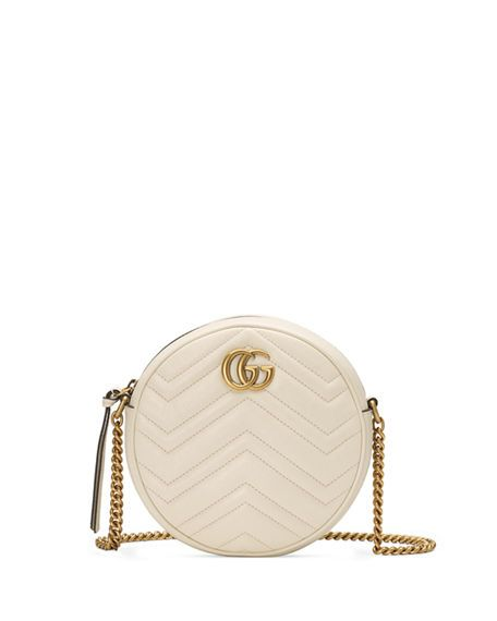 87de928fcf9824 GG Marmont Mini Round Chevron Crossbody Bag | fancy pants ...