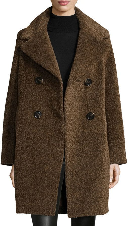 Trending On ShopStyle - Sofia Cashmere Double-Breasted Cocoon Coat, Cocoa - ShopStyle Women