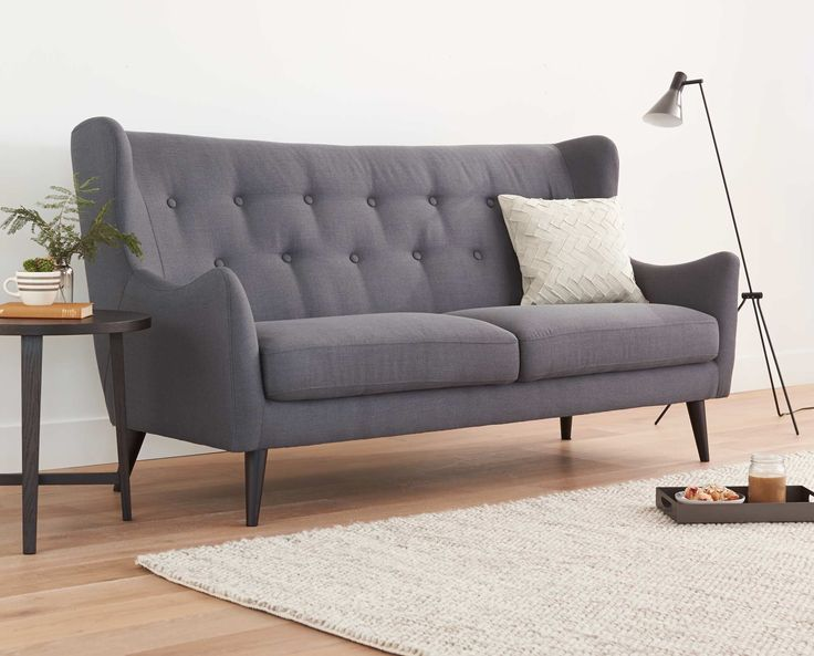 The Kamma Sofa in dark grey from Dania Furniture Co. #sofa # ...