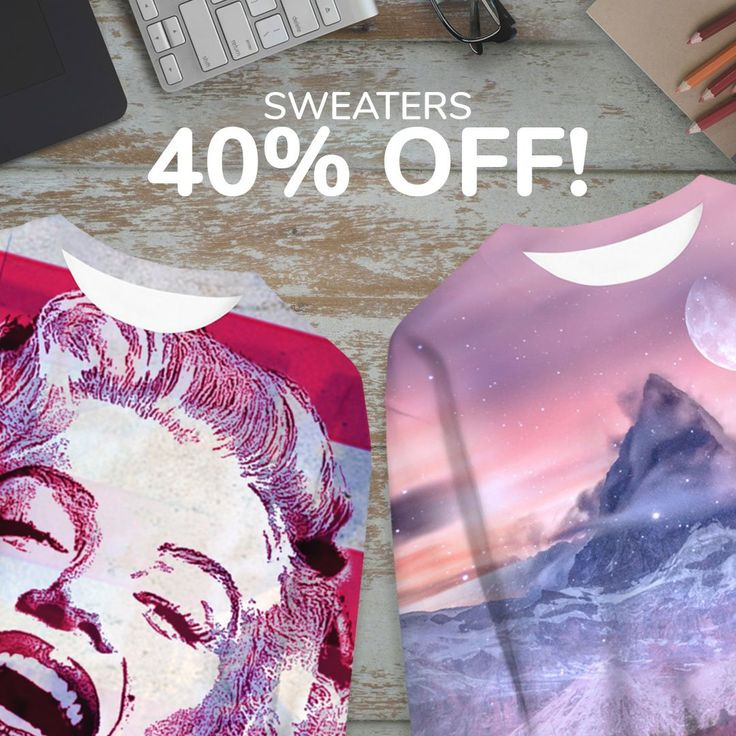 This weekend get sweater with -40% at Live Heroes!