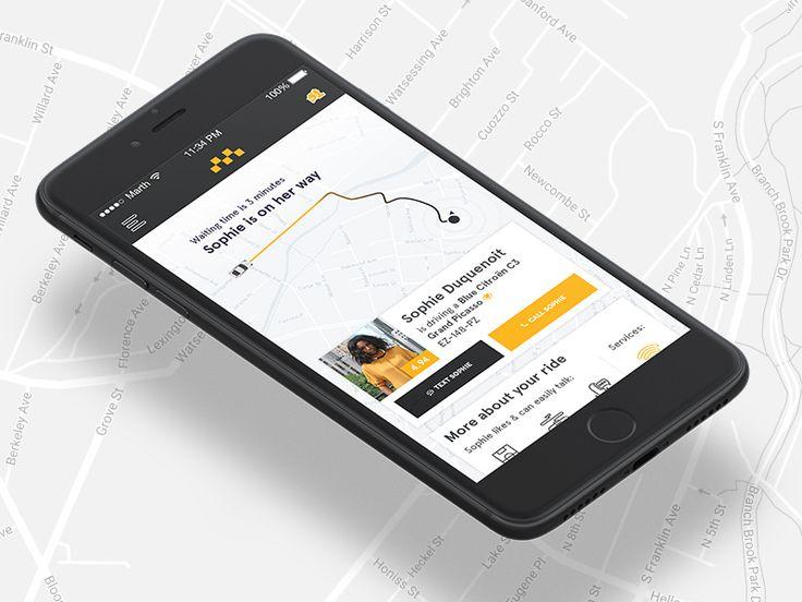 Social Cab App Design PSD