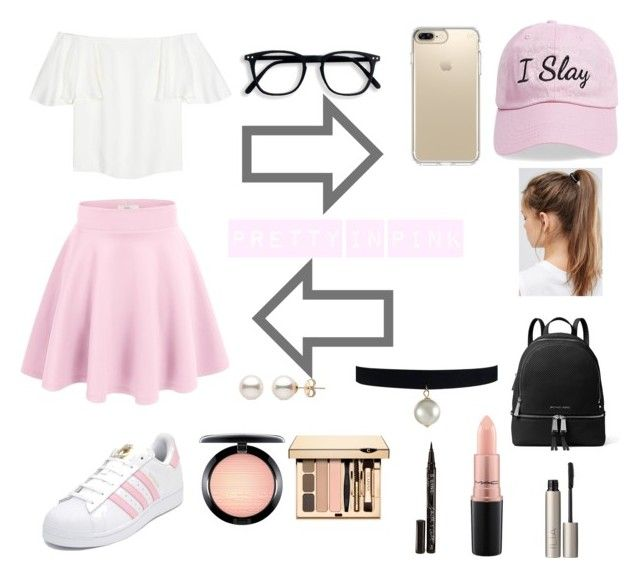"""""""Pretty n Pink pt. 2"""" by hellochloe19 on Polyvore featuring Steve Madden, Valentino, adidas, Speck, NIKE, MICHAEL Michael Kors, MAC Cosmetics, Ilia and Smith & Cult"""