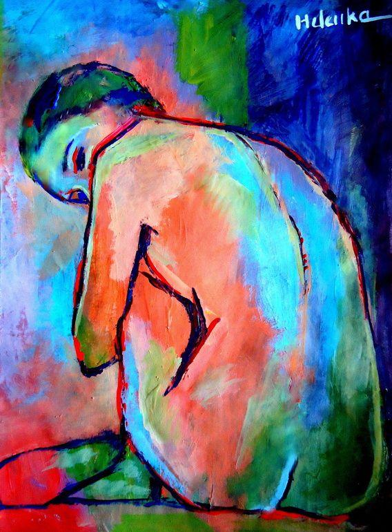 "Saatchi Online Artist: Helena Wierzbicki; Acrylic, 2013, Painting """"Keeper of…"