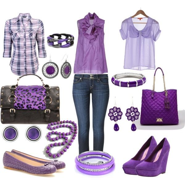 purple and jeans